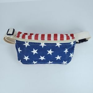 American Apparel USA Flag Stars Canvas Fanny Pack
